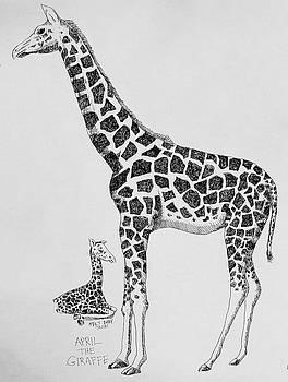 April The Giraffe by Larry Whitler