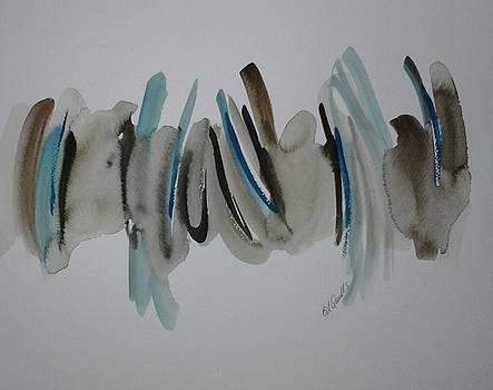 Aqua Blue and Brown by B L Qualls