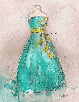 Aqua Dress by Lauren Maurer