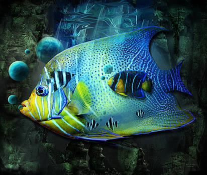 Aqua Fantasy Art World by Artful Oasis