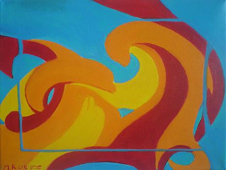 Aqua Flame by Margot Koefod