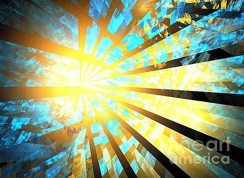 Aqua Gold Rays by Kim Sy Ok