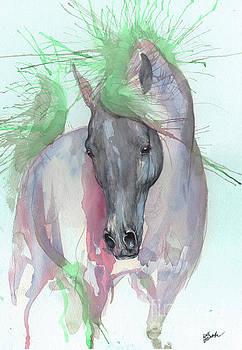 Aqua horse by Angel Tarantella