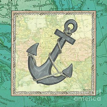 Aqua Maritime Anchor by Debbie DeWitt