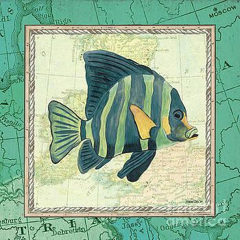 Aqua Maritime Fish by Debbie DeWitt