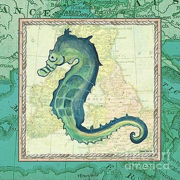 Aqua Maritime Seahorse by Debbie DeWitt