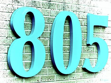 Aquamarine Blue 805 on Brick by Tony Grider