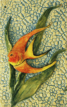 Aquarium On The Wall by Itzhak Richter