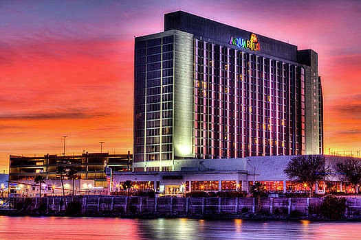 Aquarius South Tower Sunset by James Marvin Phelps