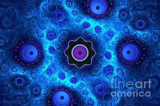 Aquatic Blue Orbs by Kim Sy Ok