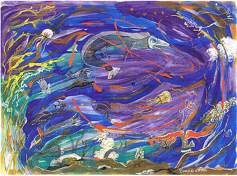 Aquatic  blues by Everna Taylor