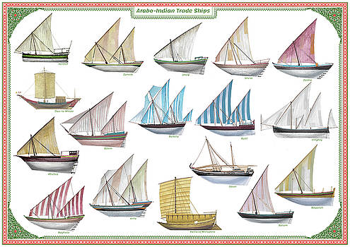 Arab and Indian trade ships by The Collectioner