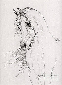 Angel Ciesniarska - Arabian horse drawing 2015 12 03