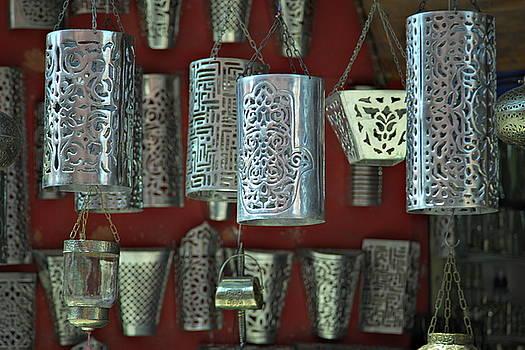 Arabian lamps at the market in Marrakech by Martin Wackenhut