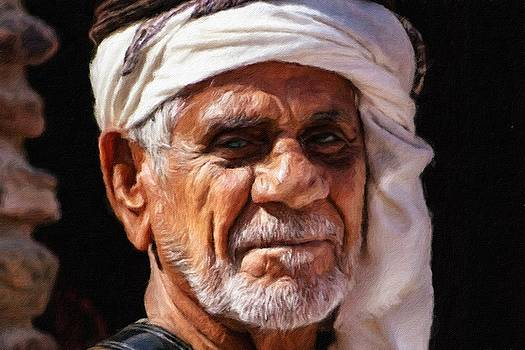 Arabian old man by Vincent Monozlay