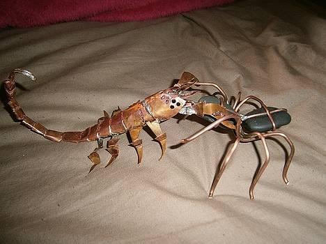 Arachnid Battle by Mike Moss