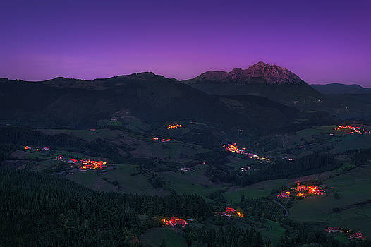 Aramaio valley at night by Mikel Martinez de Osaba