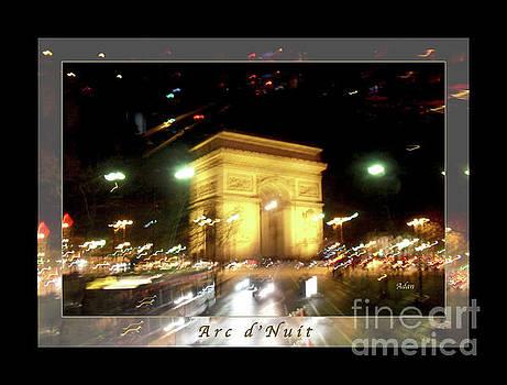 Felipe Adan Lerma - Arc de Triomphe by Bus Tour Greeting Card Poster v1