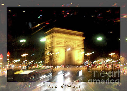Felipe Adan Lerma - Arc de Triomphe by Bus Tour Greeting Card Poster v2