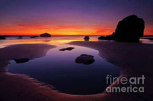 Arcadia Beach Reflections by Mike Dawson