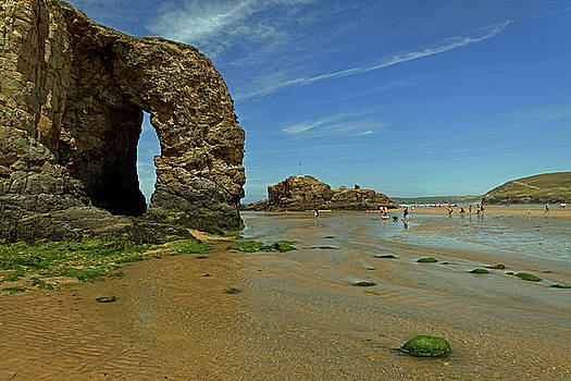 Arch Rock - Perranporth Beach by Rod Johnson