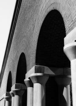 Arch Sequence in Black and White by Angela Rath