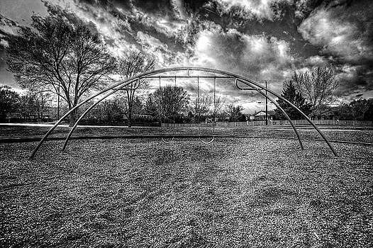 Arch Swing Set in the Park 76 in Black and White by YoPedro