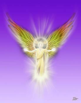 Endre Balogh - Archangel Gabriel - Pastel