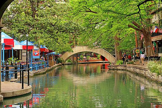 Art Block Collections - Arched Bridge Reflection - San Antonio