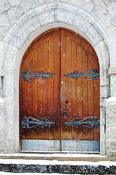 Art Block Collections - Arched Door in the Snow