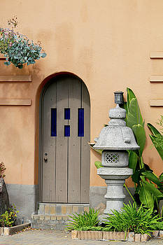 Art Block Collections - Arched Door with Stone Lantern