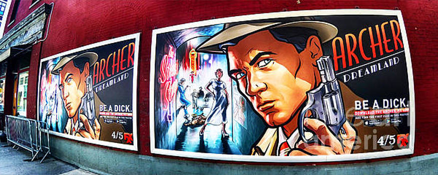 Archer TV Show ad on a Red Brick Wall 2 by Nishanth Gopinathan