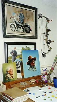 Archery and Art and Another part of my studio by Mahto Hogue