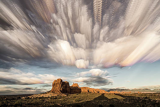 Arches National Park Cloud Stack by Whit Richardson