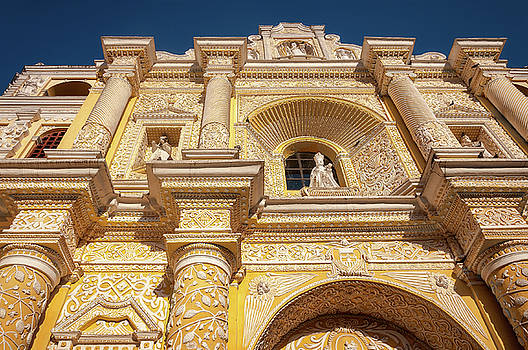 Architectural Arabesque Details of La Merced Church in Antigua, Guatemala by Daniela Constantinescu