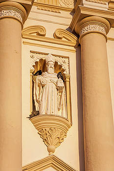 Architectural detail at Saint James Cathedral in Antigua by Daniela Constantinescu