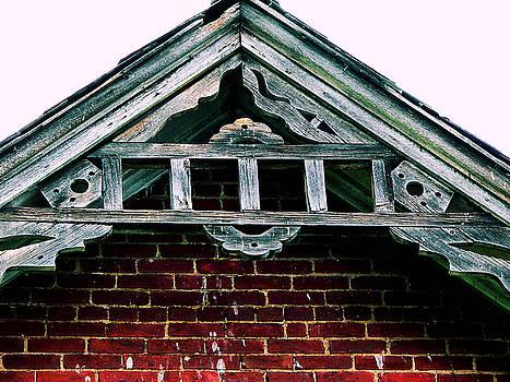 Architectural Detail On Old Church by Kathy K McClellan