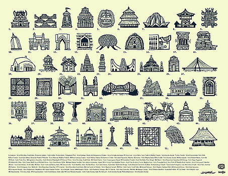 Architectural Icons of India - Large by Sasank Gopinathan