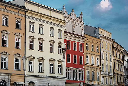 Architecture On Main Square Krakow Poland by Steve Gadomski