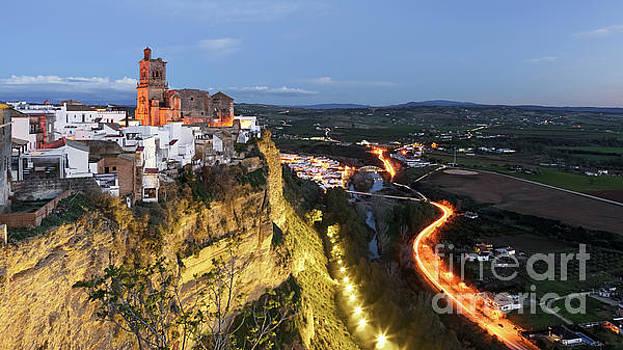 Arcos de la Frontera View from Parador Nacional Cadiz Spain by Pablo Avanzini