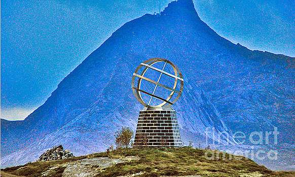Arctic Circle Monument by Larry Mulvehill