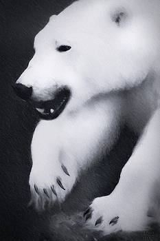 Arctic Polar Bear Large Canvas Art, Canvas Print, Large Art, Large Wall Decor, Home Decor by David Millenheft
