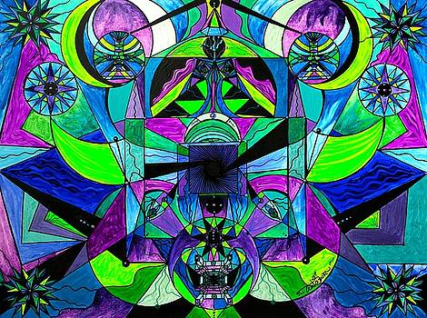 Arcturian Astral Travel Grid  by Teal Eye Print Store