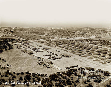 California Views Mr Pat Hathaway Archives - Areial view of Fort Ord looking towards Monterey Bay  circa 1945