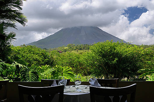 Reimar Gaertner - Arenal Volcano seen from the restaurant tables at the Paraiso Re
