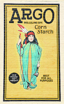 Argo Corn Starch Wall Advertising by J Laughlin