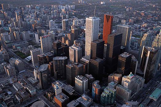 Reimar Gaertner - Arial view of Financial towers in Toronto Canada