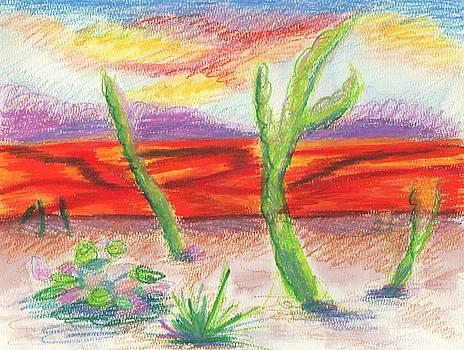 Suzanne  Marie Leclair - Arizona Desert Landscape