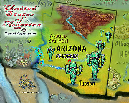 Kevin Middleton - Arizona Fun Map