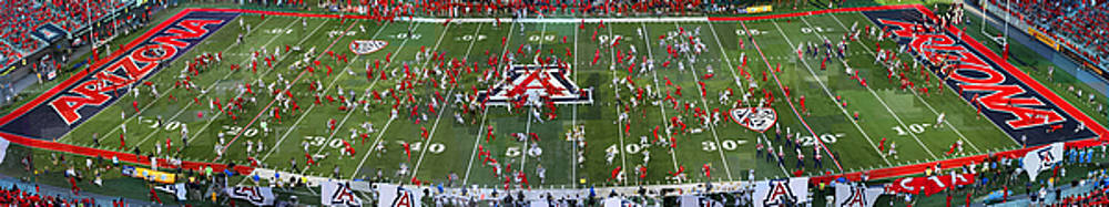 Arizona Stadium Triptych Part 2 by Stephen Farley